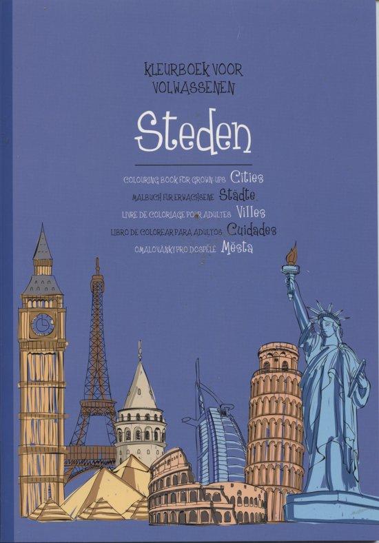 Kleurplaten Voor Volwassenen Steden.Bol Com Kleurboek Voor Volwassenen Steden Merkloos