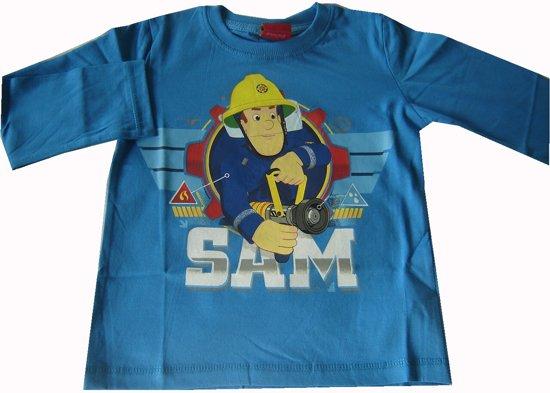 Blauwe longsleeve van Brandweerman Sam maat 128