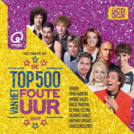 CD cover van Qmusic Top 500 Van Het Foute Uur - 2019 van Qmusic (NL)