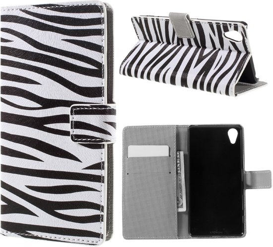 Sony Xperia X Performance Bookcase Hoesje Zebra in Scherpenzeel