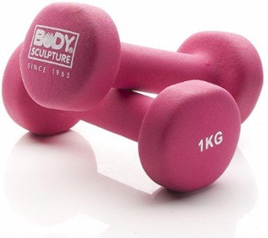 Body Sculpture Dumbell set 2x 1 kg Neopreen - Pink