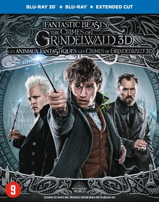 DVD cover van Fantastic Beasts - The Crimes Of Grindelwald (3D+2D Blu-ray)