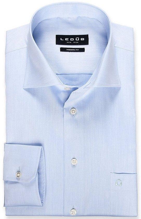 Ledub overhemd modern fit ML7 blauw, maat 45