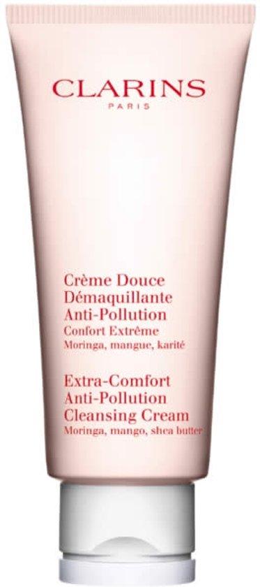MULTI BUNDEL 2 stuks Clarins Extra-Comfort Anti-Pollution Cleansing Cream 200ml