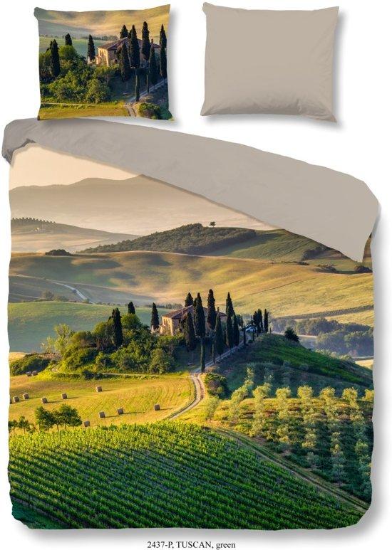 Good Morning Tuscan - Dekbedovertrek - Eenpersoons - 140x200/220 cm + 1 kussensloop 60x70 cm - Groen
