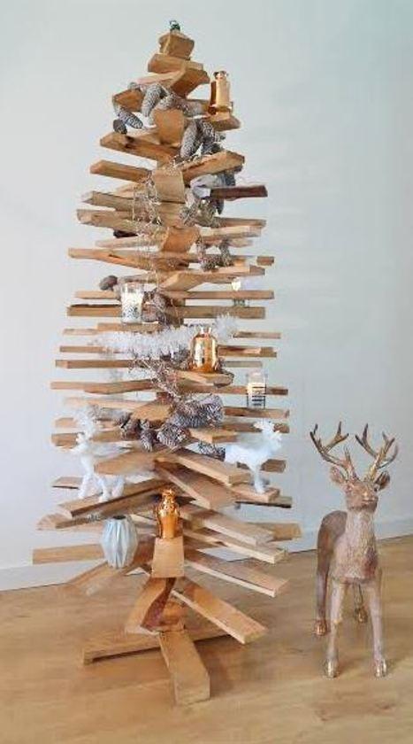 Bol Com Luxe Houten Kerstboom 3d 172 Cm