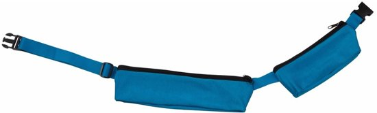 Turquoise reis heuptas met 2 vakjes 80-107 cm