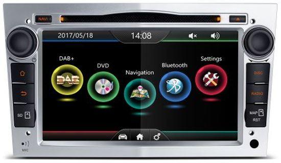 Opel astra GTC DAB+ autoradio met navigatie usb aux touchscreen Zilver