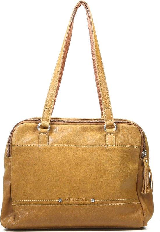 910d1c1c367 Arthur & Aston - Lederen tas - 2 vakken - Shopper - Handig formaat -  Schoudertas