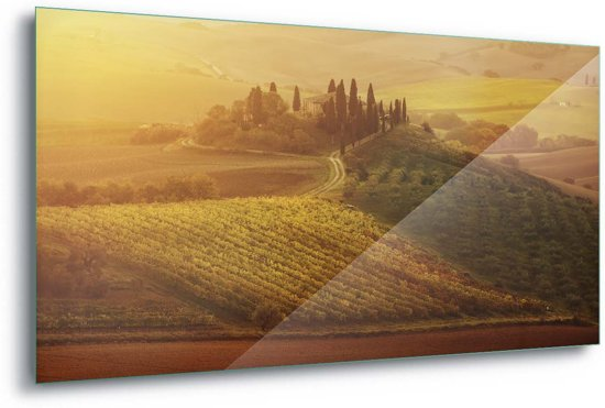 Foto print op Glas Tuscan Dream|G3 - 40cm x 60cm|Toughened Glass 5mm
