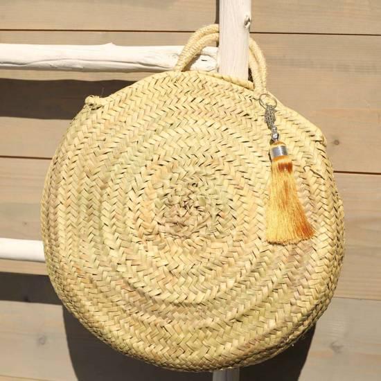 Myroundie - Roundie Bag - Ronde Ibiza Boho Tas 34 - Hand gevlochten Palmblad Tas – Maat S