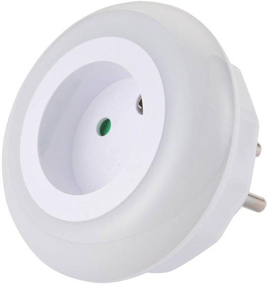 Hofftech LED-Nachtlampje Met Schemeringssensor & Stopcontact