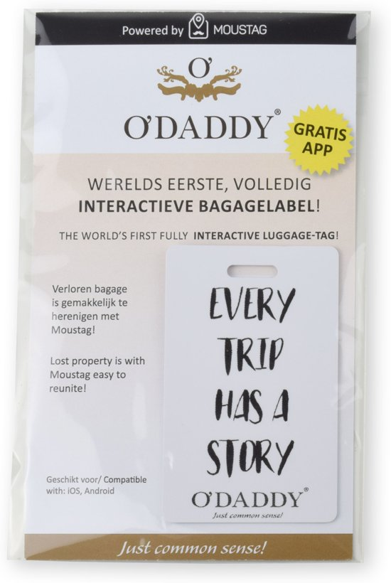 Bolcom Odaddy Interactief Bagage Label Every Trip Has A Story