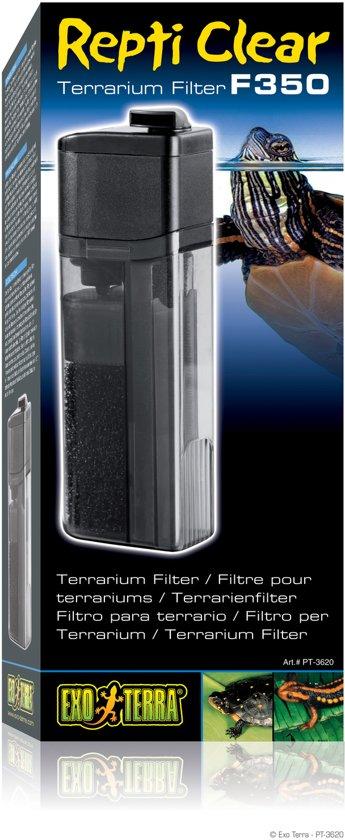 Exo Terra Terrarium filter Repti Clear F350 - Zwart - 8 x 8 x 25cm