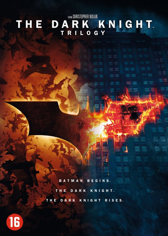 DVD cover van The Dark Knight Trilogy