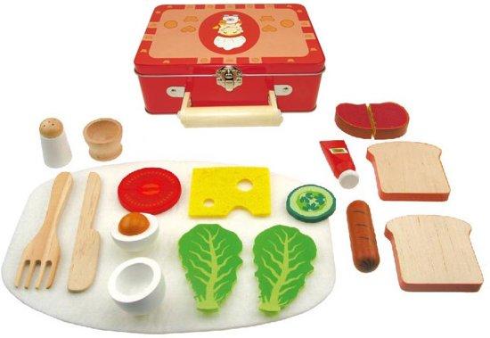 6a930d6260f bol.com | Houten Ontbijtset in Koffer | Speelgoed
