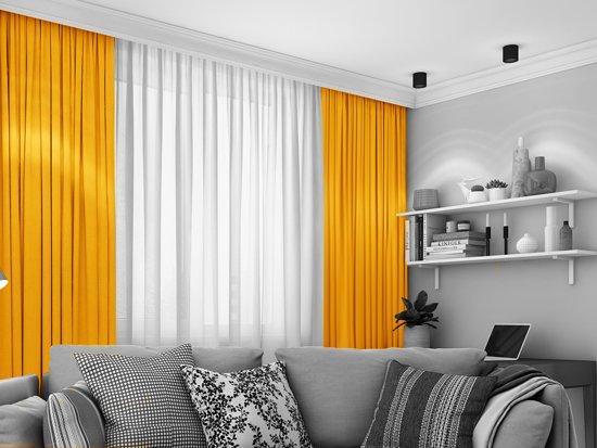 Verduisterings Gordijn 6 : Bol verduisterend cm geel kamerhoog kant en klaar
