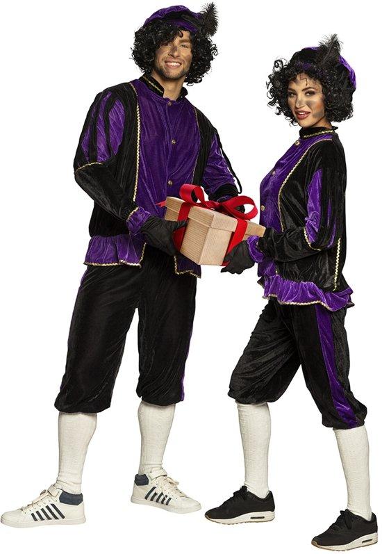 Pieten kostuum volwassenen paars (XL) - Carnavalskleding
