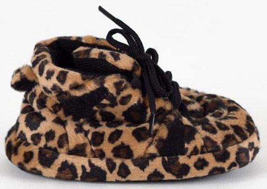 Baby sneaker slofjes luipaard bruin