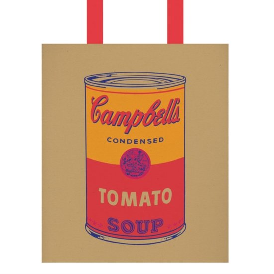 Warhol campbell's soup tote bag