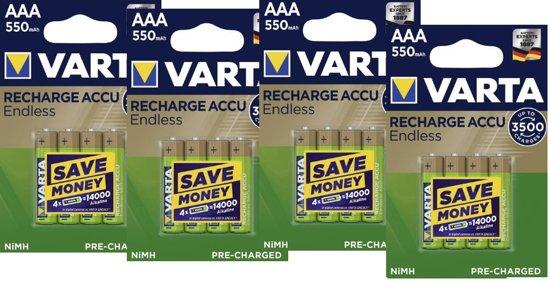 Varta Oplaadbare AAA batterij 550 mAh - 16 stuks