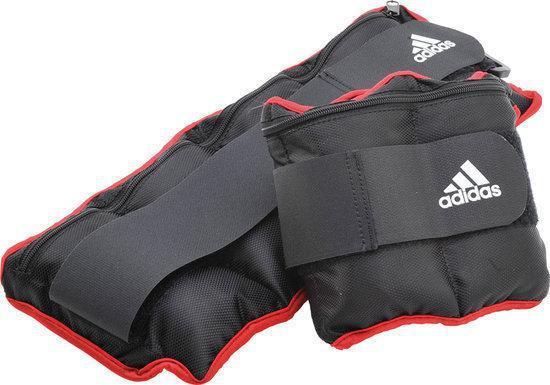 adidas Enkelgewichten / Polsgewichten - 2 x 1 kg - Zwart/Rood