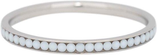 iXXXi Jewelry Vulring 2mm White Stone zilverkleurig - maat 18