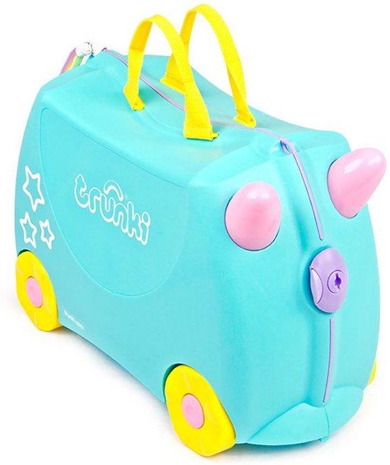 Trunki Ride-on Eenhoorn Una Kinderkoffer - 46 cm - Blauw