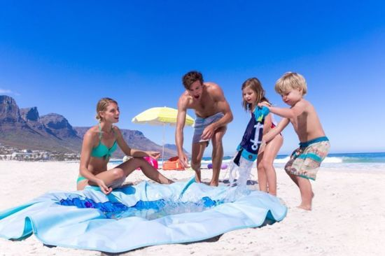 EverEarth zwembadkleed - Strandkleed & Zwembadje in 1 - Rond Strandlaken - Picknickkleed