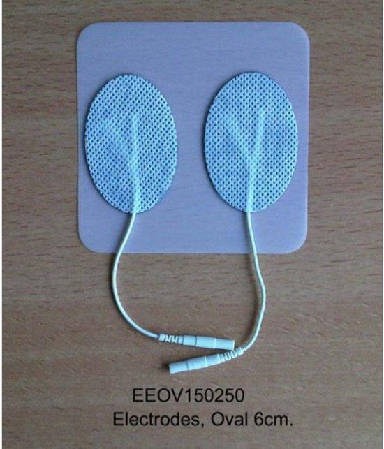 6cm. ovaal elektrode TENS Elektrotherapie Biofeedback - 4 stuks