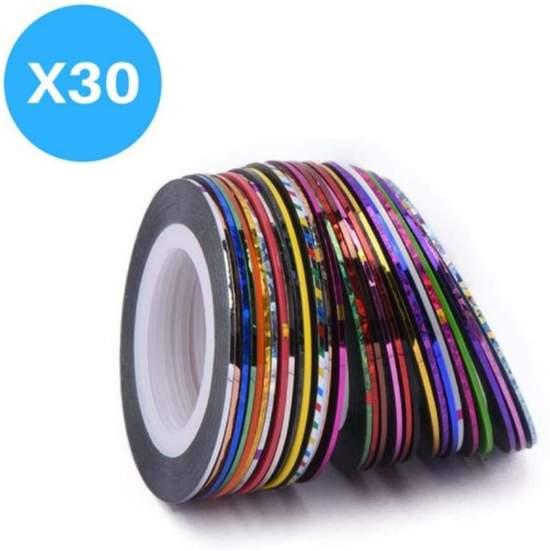 30 Rolletjes Striping Tape