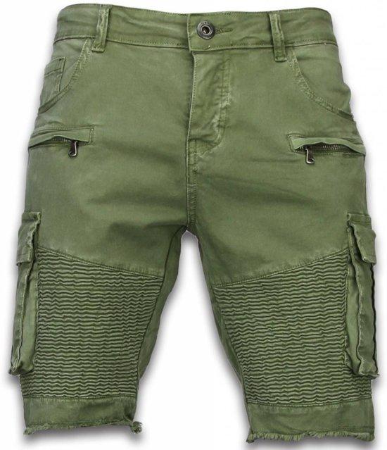Maten Korte Broek Heren.Bol Com Enos Korte Broek Heren Slim Fit Biker Pocket Jeans