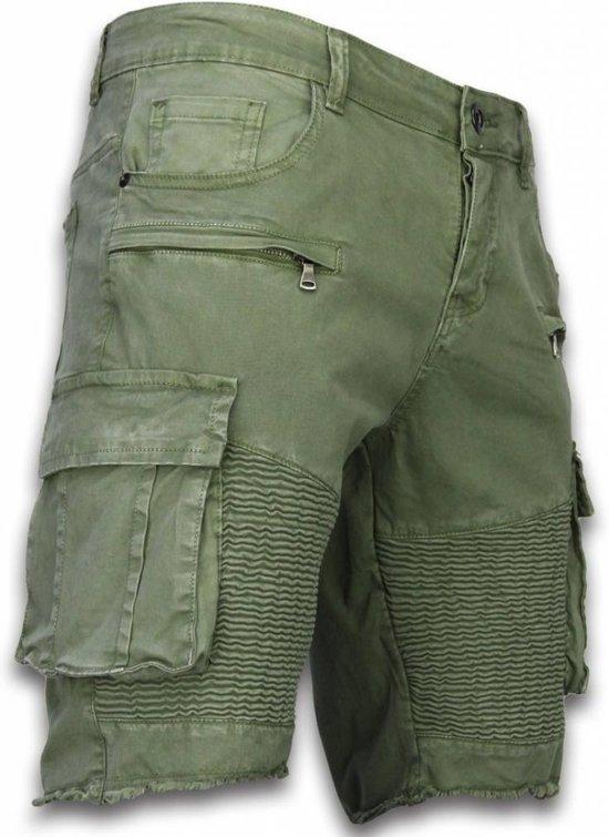 Maten Korte Broek Heren.Jeans Fit Pocket Maten Slim Heren 34 Groen Enos Korte Broek Biker Wioq0a