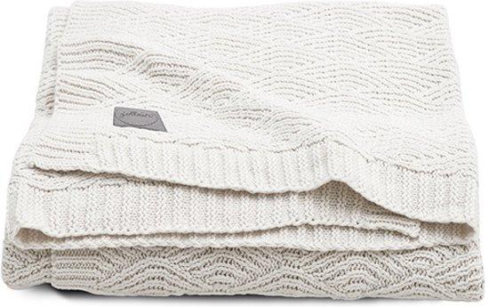 Jollein Deken 100x150cm River knit cream whIite