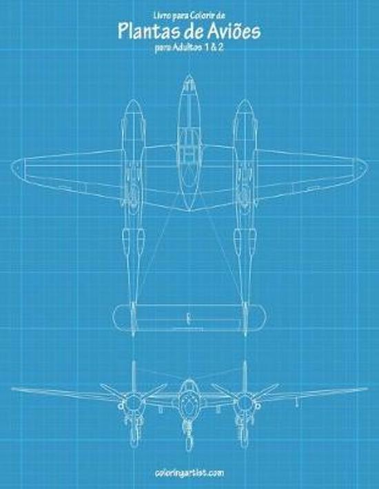 Livro para Colorir de Plantas de Avi�es para Adultos 1 & 2