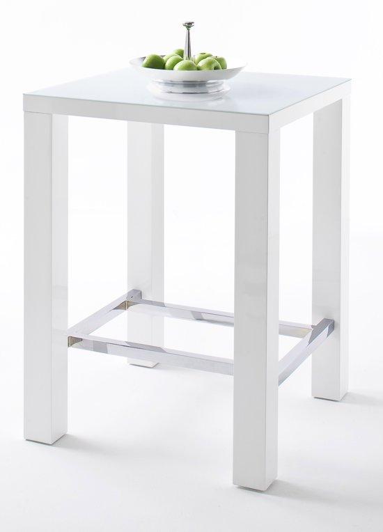 Hoogglans Wit Bartafel.Bol Com 24designs Bartafel Queen Glass L80 X B80 X H107 Cm