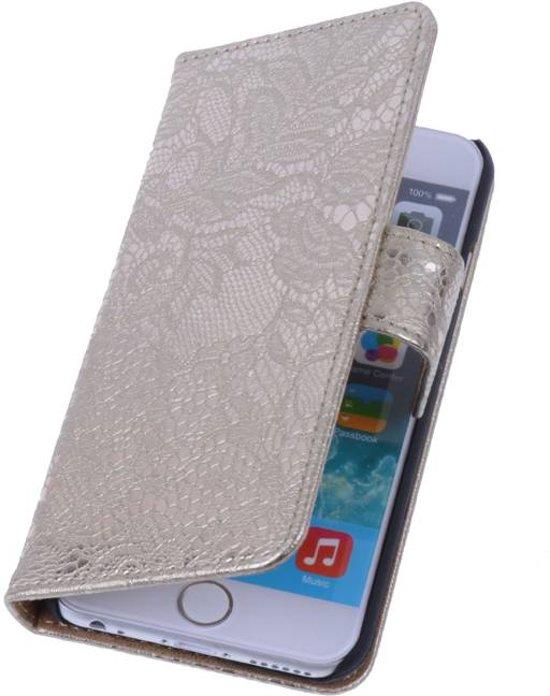 Bolcom Aa Case Goud Book Case Bloemen Design Apple Iphone 6 Plus