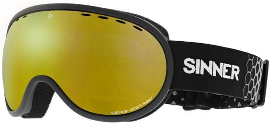 Sinner Vorlage Unisex Skibril - Matte Black - Sintec / Trans+