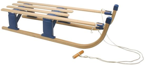 Nijdam houten slee (110 cm) - Opvouwbare slee