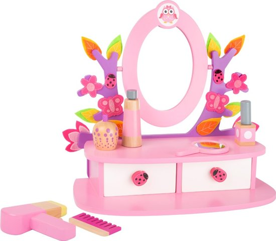 Small Foot Kleurrijke Houten Make-up Tafel Roze