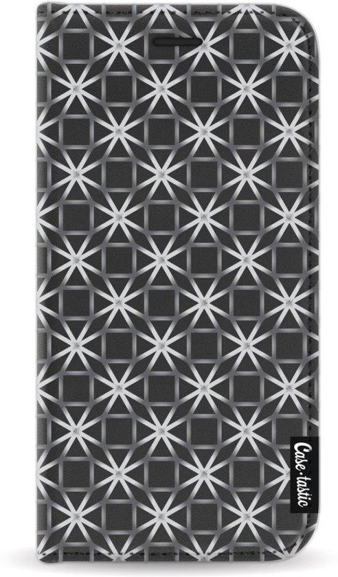 Casetastic Wallet Case Black Samsung Galaxy J3 (2017) - Geometric Lines Silver