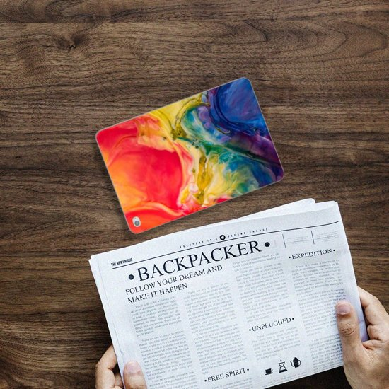 Apple iPad Mini 4 Uniek Tablethoesje Watercolor Dark
