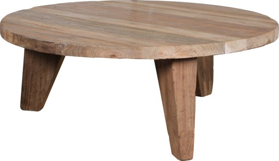 Houten Salon Tafel : Bol hkliving ronde houten salontafel