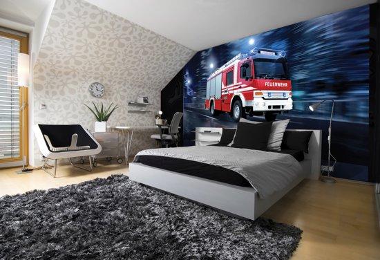 Fotobehang Auto, Brandweer | Rood | 152,5x104cm