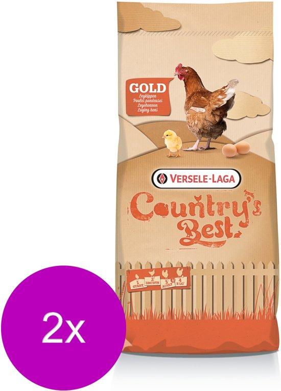 Versele-Laga Country`s Best Gold 4 Mash Legmeel - Kippenvoer - 2 x 20 kg Vanaf 1e Ei