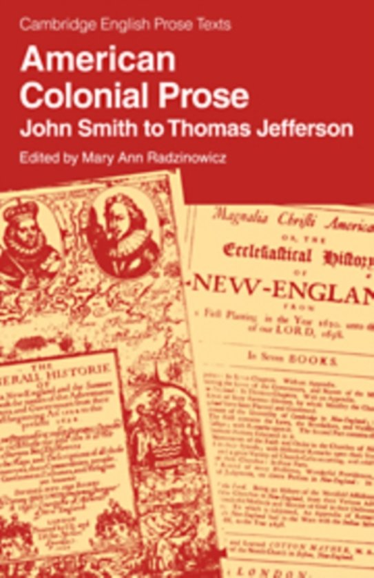 American Colonial Prose