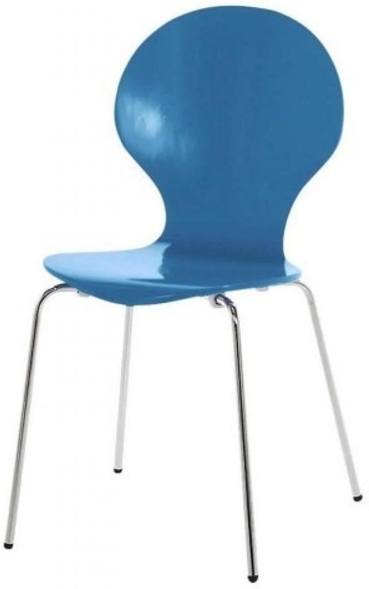 bol.com : FYN Mounir - Stoel - Blauw : Wonen