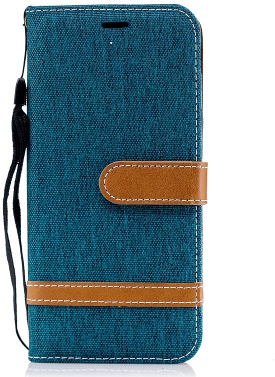 Denim Book Case Samsung Galaxy J6 (2018) Hoesje - Groen