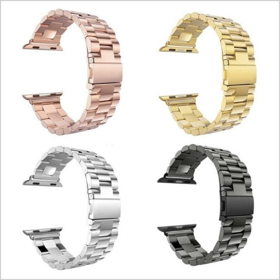 Apple Watch Horloge Band Rosé Goud 42 MM - iWatch Watchband Bandje - Smartwatch Armband Roestvrij Staal