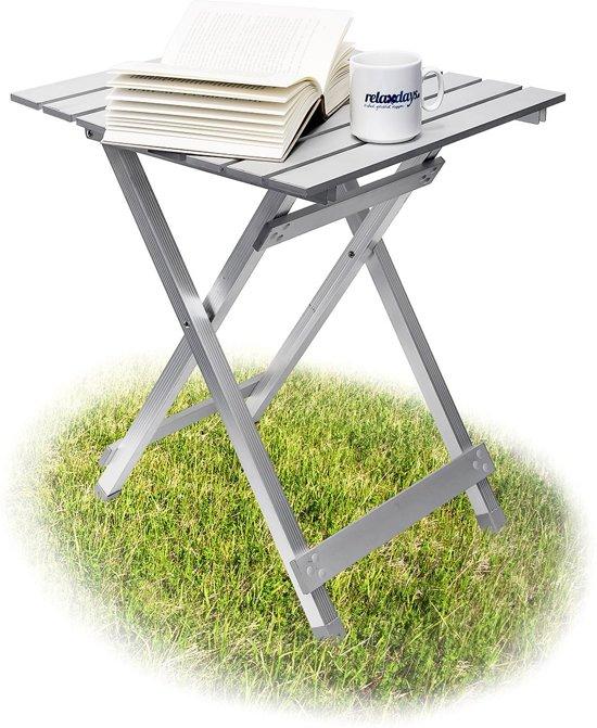 Aluminium Camping Tafeltje.Relaxdays Inklaptafel Aluminium 49 5 Cm Klein Kleine Campingtafel Opklapbaar Tafeltje
